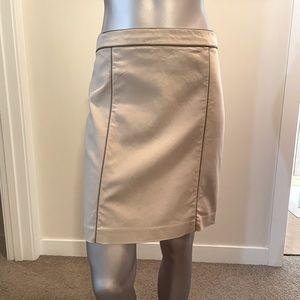 Club Monaco Leather Trim Skirt